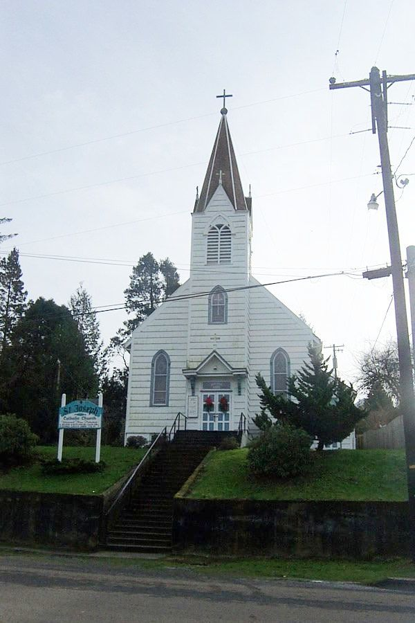 The Catholic Church in Cloverdale, Oregon.