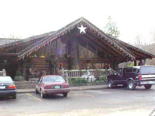 The lodge and restaurant at Elsie, Oregon.