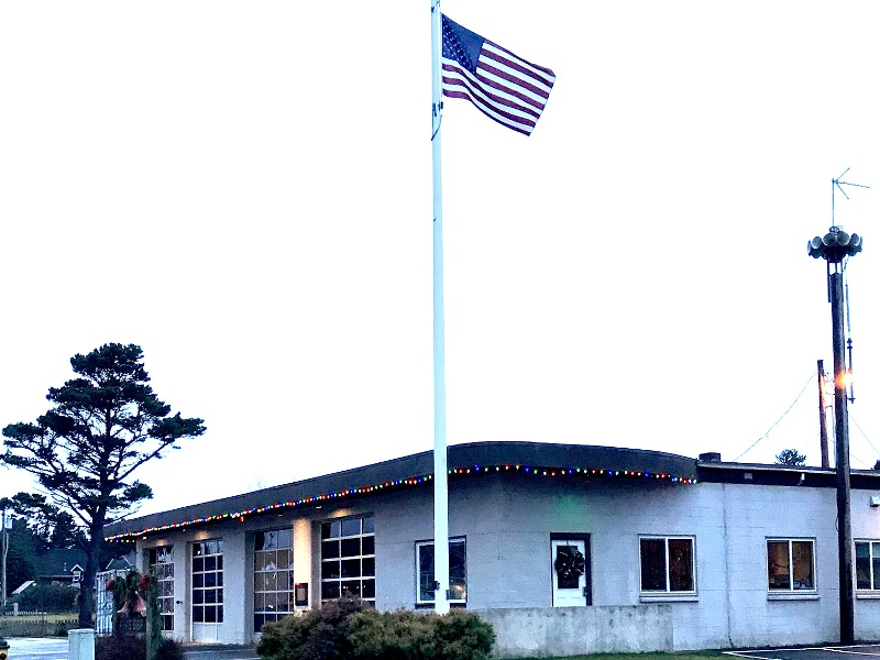 The fire station at Gearhart, Oregon.