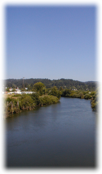 Coquille Oregon Lies Inland Just Out Of Reach Of The