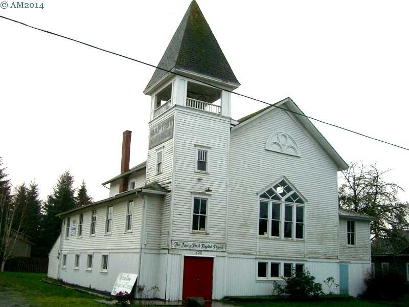 The Baptist Church in Amity, Oregon dates from 1858.