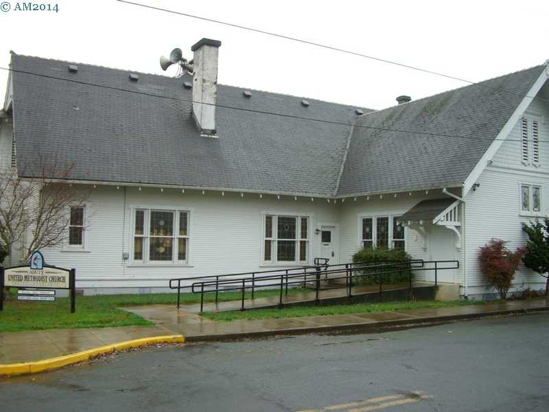 The United Methodist church in Amity, Oregon..