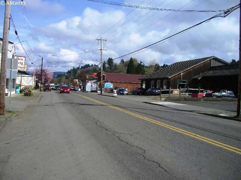 Main Street of Banks, Oregon as it looks today.