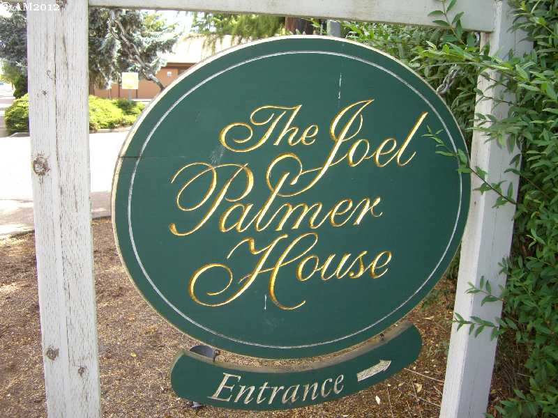Sign for the Joel Palmer House in Dayton, Oregon.