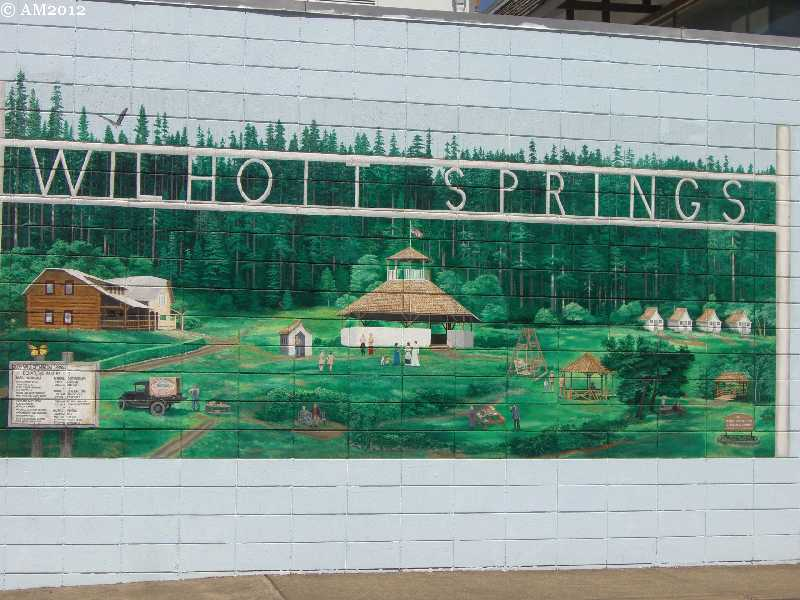 A Wilhoit Hot Springs mural in Molalla, Oregon.