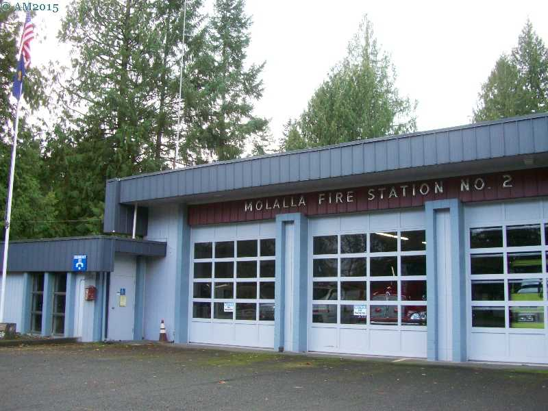 The fire station near Mulino, Oregon.
