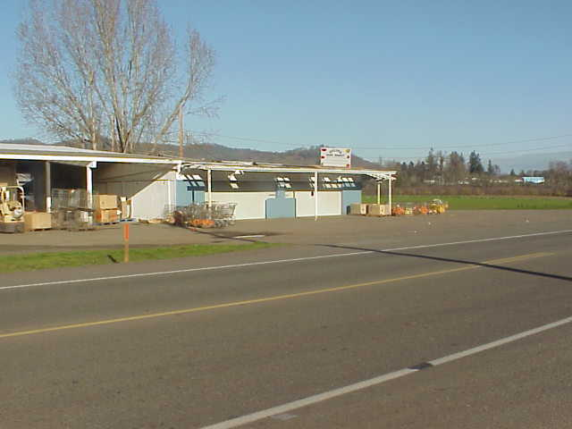 Fruit stand in Winter, Dillard, Oregon.