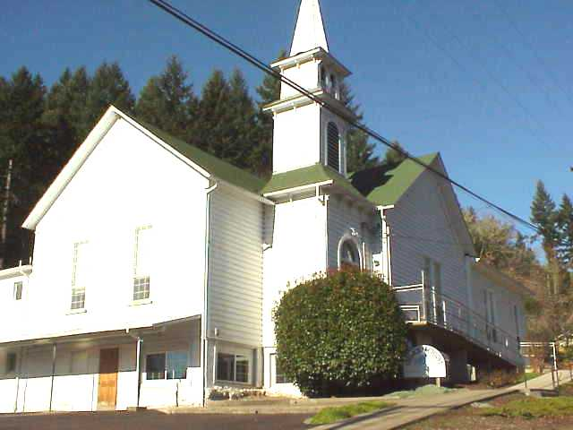 A church in Drain, Oregon.