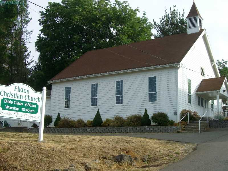 The Christian church, Elkton, Oregon.