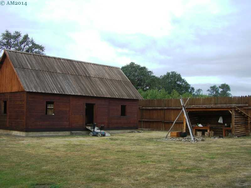 Inside Fort Umpqua, Elkton, Oregon.