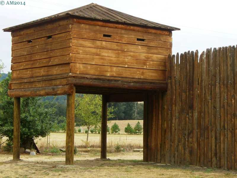 The block house at Fort Umpqua, Elkton, Oregon.