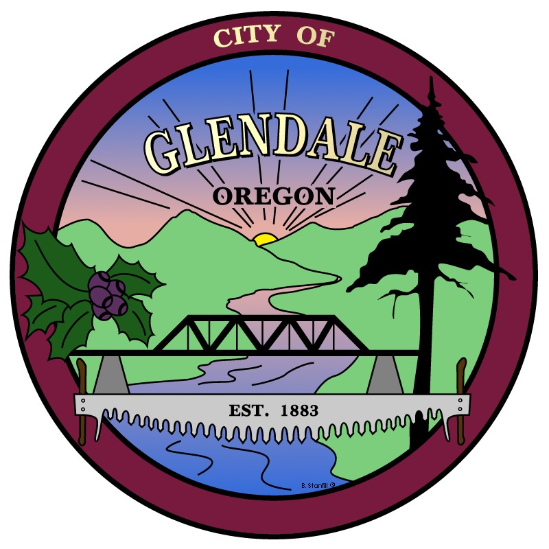 Logo of the City of Glendale, Oregon.