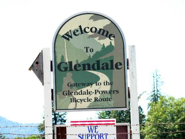 The start of the Glendale to Powers bicycle route is in Glendale, Oregon.