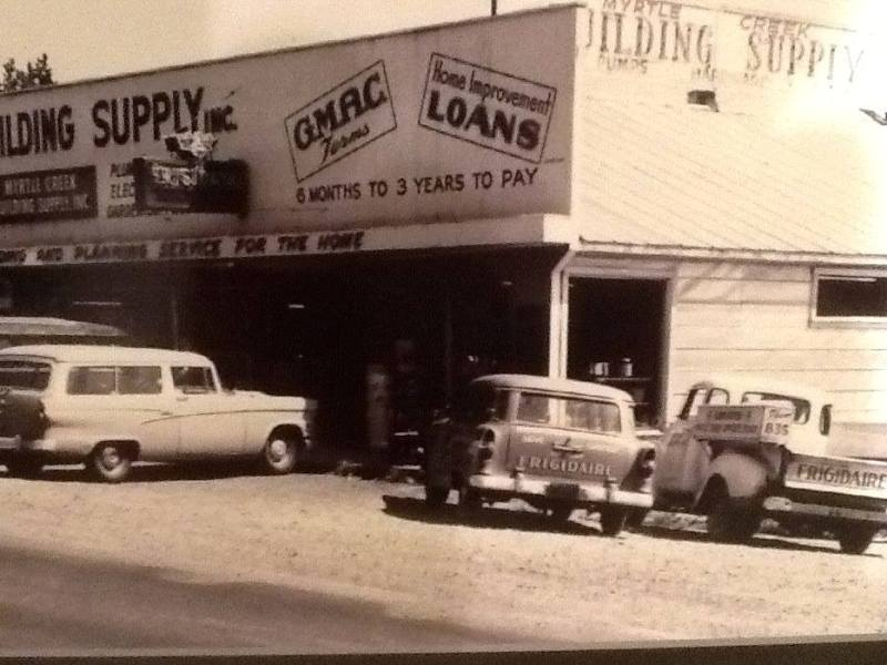 From the 1950's, The Myrtle Creek Building Supply, Myrtle Creek, Oregon.