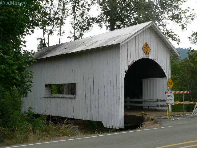 This bridge connects Myrtle Creek, Oregon to the Interstate 5 Highway.