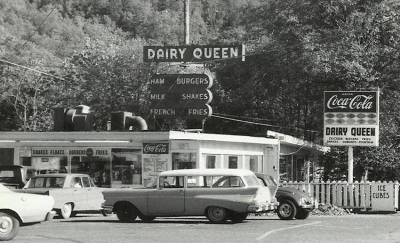 From about1960, the Dairy Queen on Main Street, Myrtle Creek, Oregon.
