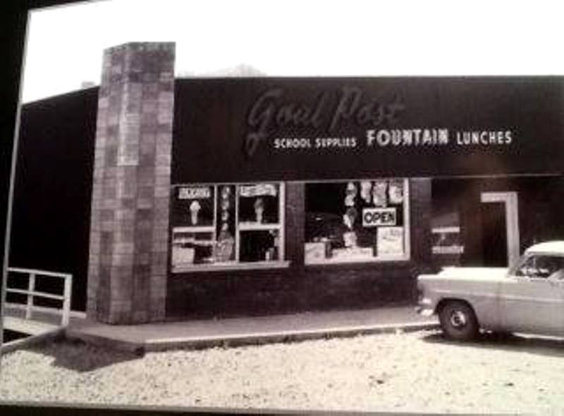 From the 1950's, the Goal Post restaurant, Myrtle Creek, Oregon.