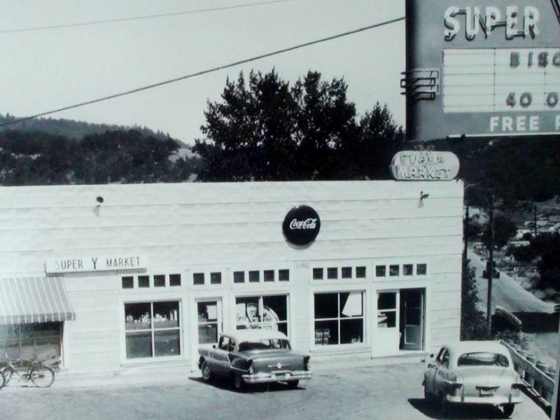 From the 1950's the Super Y Market, Myrtle Creek, Oregon.