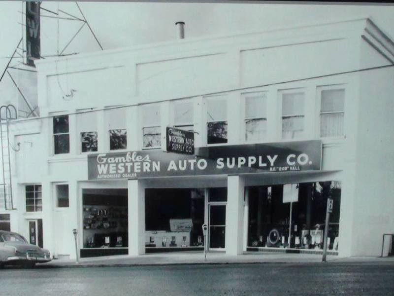In the 1950's, the Western Auto store in Myrtle Creek, Oregon
