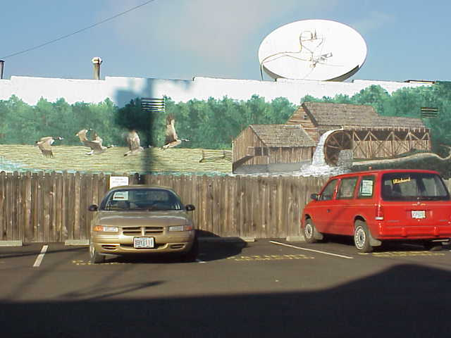An outdoor mural in Sutherlin, Oregon.