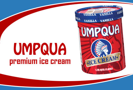 Umpqua Ice Cream is made in Roseburg, Oregon.