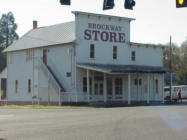 The old Brockway Store west of Winston, Oregon.