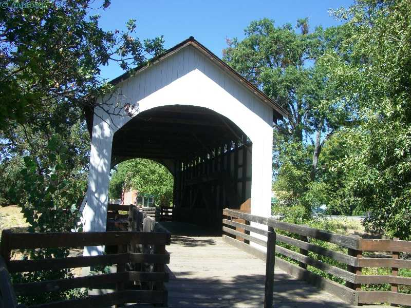 Yankee Creek Covered Bridge Moved to Eagle Point, Oregon.
