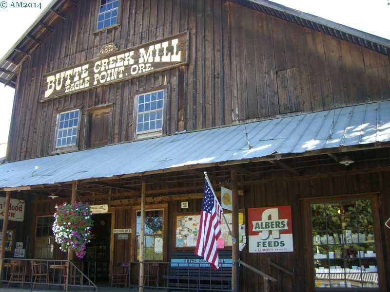 The historic Butte Creek mill in Eagle Point, Oregon.