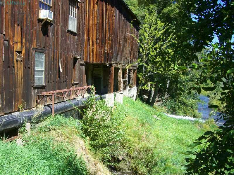 Upstream side of the historic Butte Creek mill in Eagle Point, Oregon.