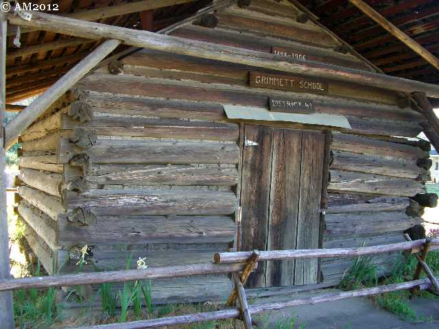 A one room school house in Kerby, Oregon.