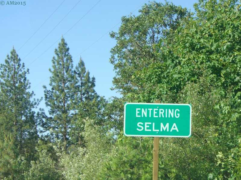 The entry sign, Selma, Oregon.