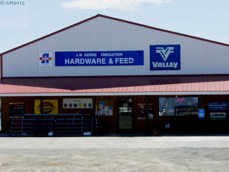 Kern's Hardware and Feed store in Christmas Valley, Oregon.