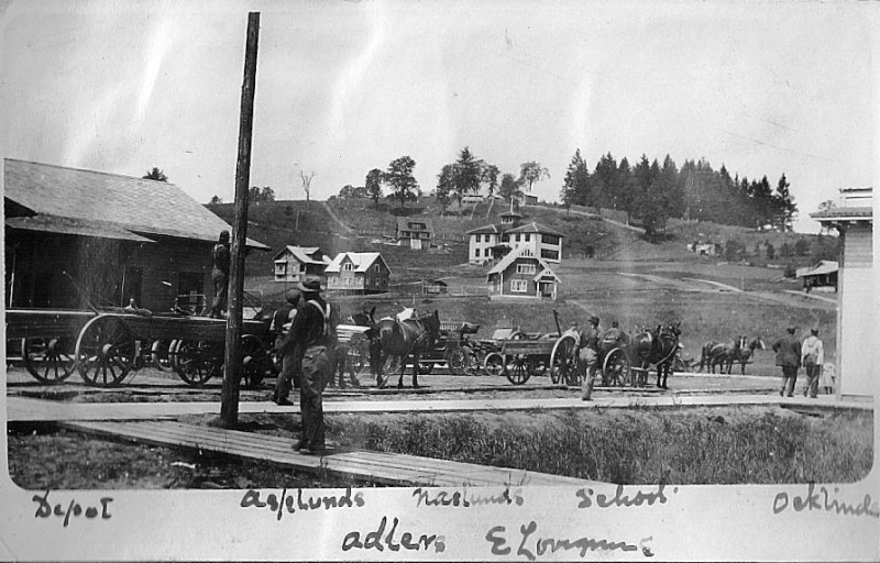 Historical photo of the Cherry Grove, Oregon depot.