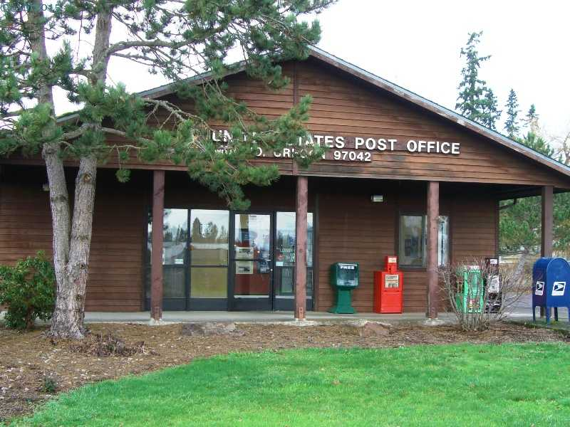 The new post office in Mulino, Oregon.
