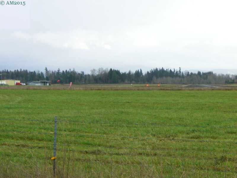 The airport runway at Mulino, Oregon.