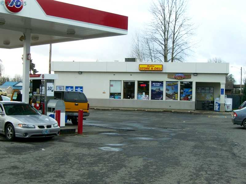 The store and gas station in Mulino, Oregon.