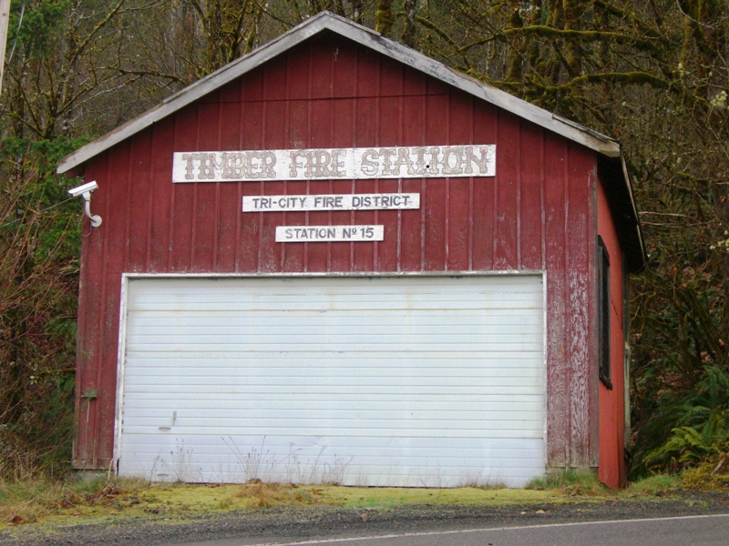 The fire station in Timber, Oregon.