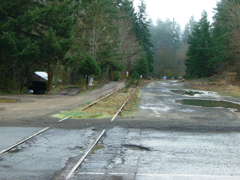 The unused rail tracks in Timber, Oregon.