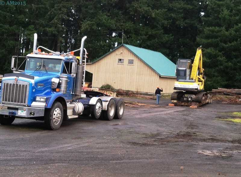 A log loader at the mill in Yoder, Oregon.