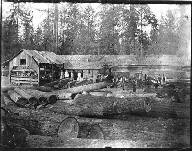 Historical photo of the Yoder Mill in Yoder, Oregon.