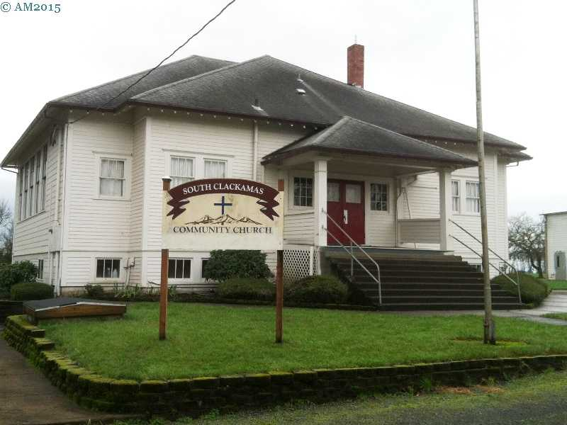 The old school building in Yoder, Oregon