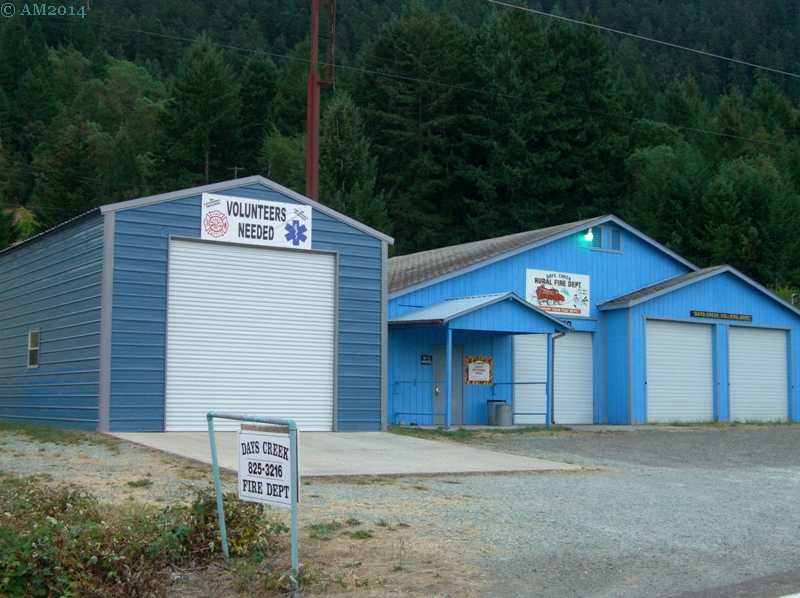 The Fire Department in Days Creek, Oregon.