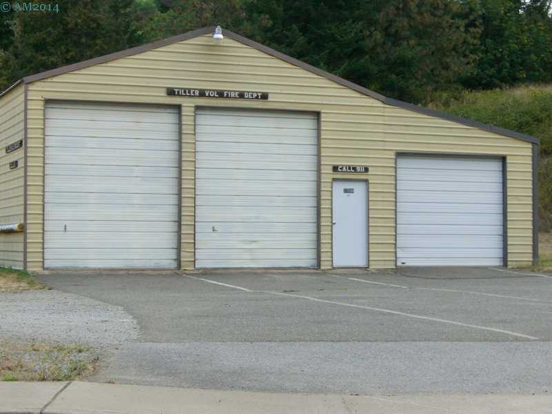 The Tiller Fire Station in Tiller, Oregon.