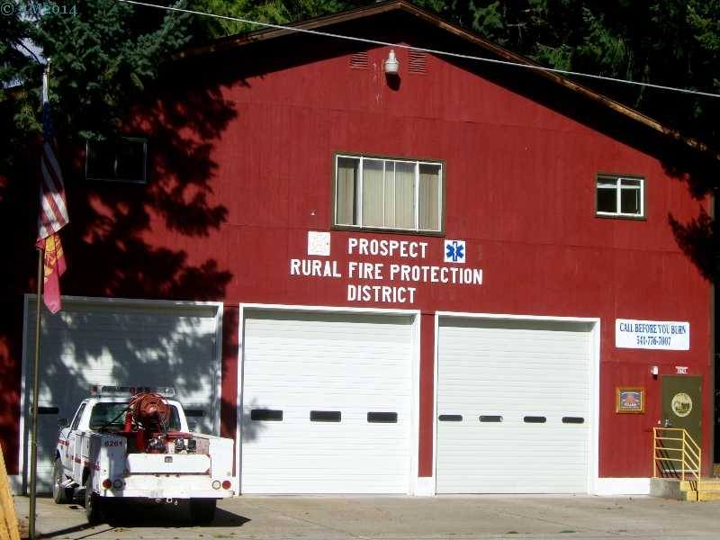 The Fire Station in Prospect, Oregon.