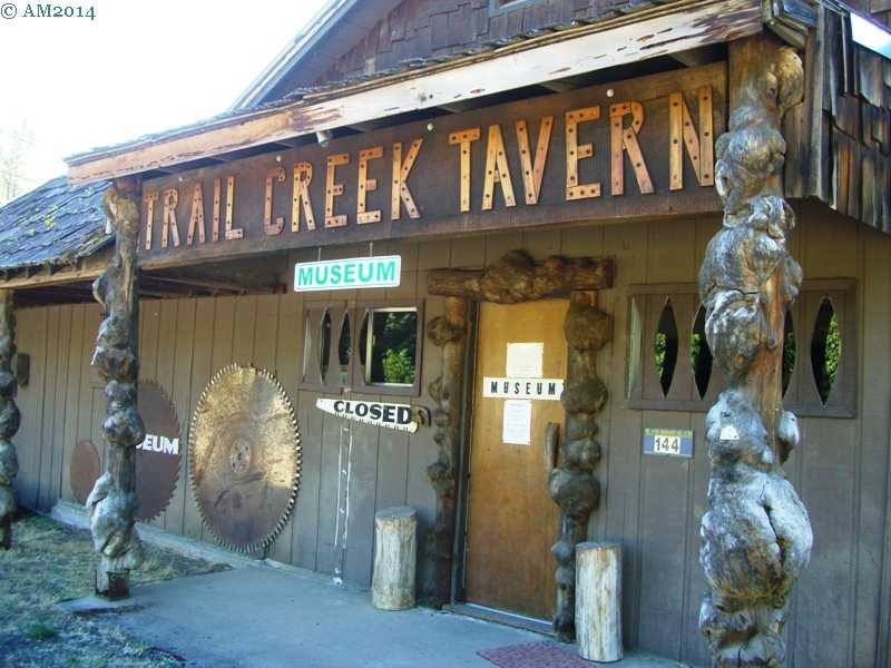 The Trail Museum entrance at Trail, Oregon